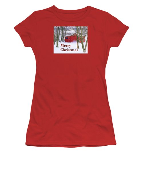 Christmas Card  Women's T-Shirt (Athletic Fit)