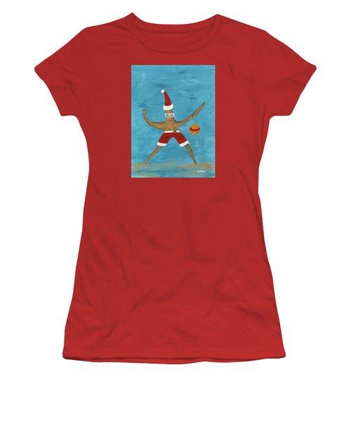 Christmas Starfish Women's T-Shirt (Junior Cut) by Jamie Frier