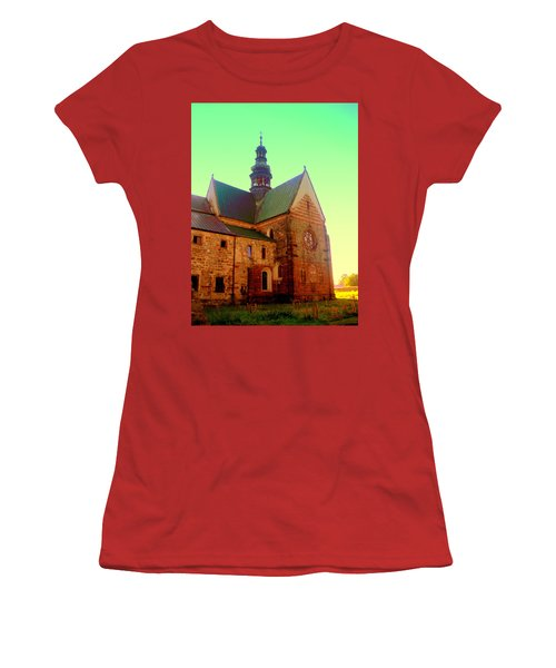 Church Of The Blessed Virgin Mary And St. Florian In The Wachock Women's T-Shirt (Athletic Fit)