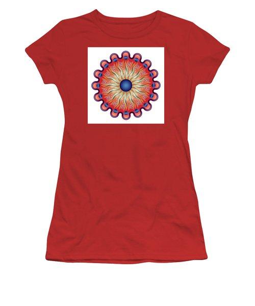 Women's T-Shirt (Junior Cut) featuring the digital art Circularium No 2664 by Alan Bennington