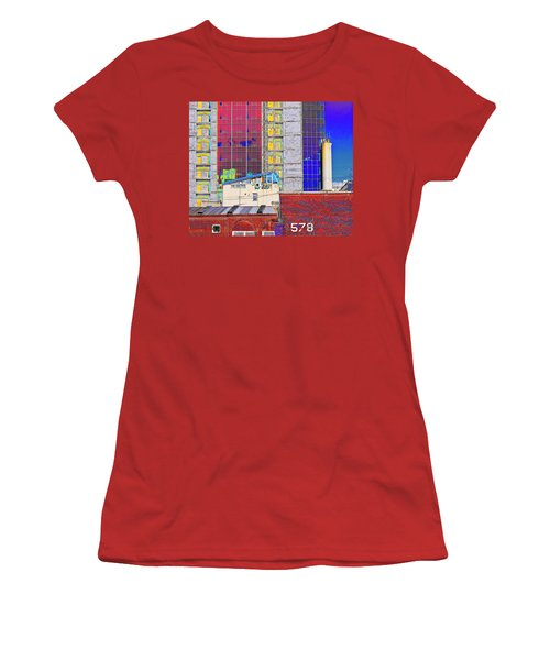 Women's T-Shirt (Junior Cut) featuring the photograph City Space by Vladimir Kholostykh