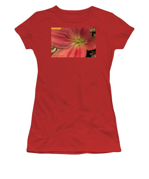Close Up And Personal Women's T-Shirt (Junior Cut) by Nance Larson