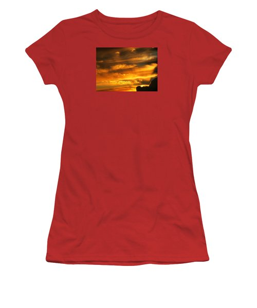 Clouded Sunset Women's T-Shirt (Athletic Fit)