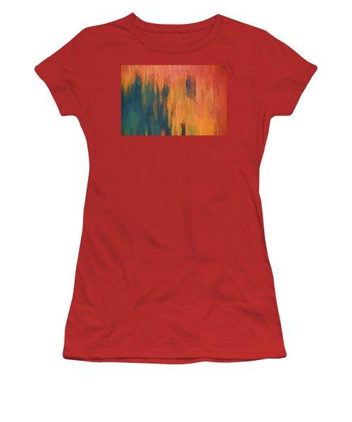 Color Abstraction Xlix Women's T-Shirt (Junior Cut) by David Gordon