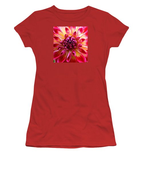 Color Burst Dahlia  Women's T-Shirt (Athletic Fit)