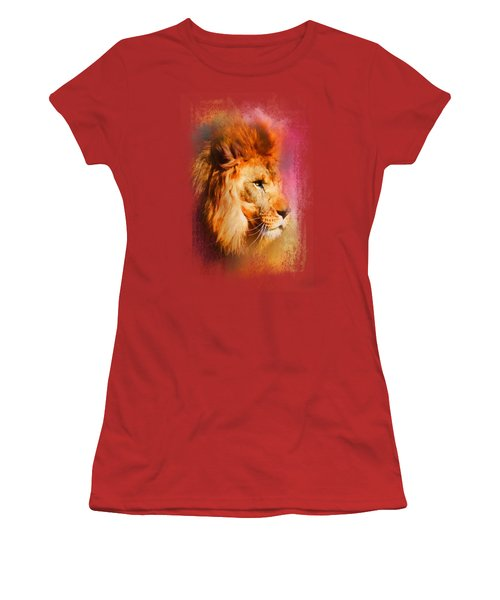 Colorful Expressions Lion Women's T-Shirt (Junior Cut) by Jai Johnson