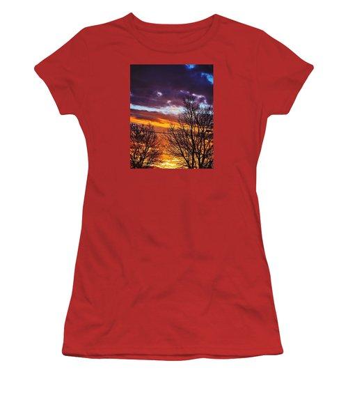 Colorful Skies Women's T-Shirt (Junior Cut) by Nikki McInnes