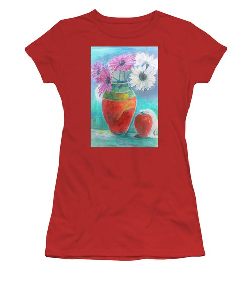 Colorful Vases And Flowers Women's T-Shirt (Athletic Fit)