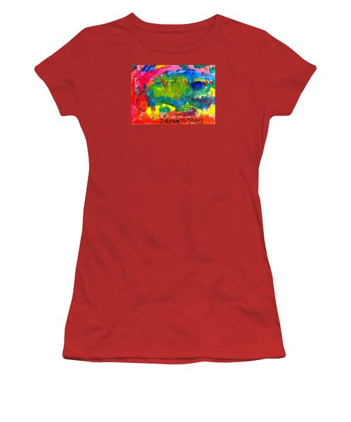 Women's T-Shirt (Junior Cut) featuring the painting Colors by Artists With Autism Inc