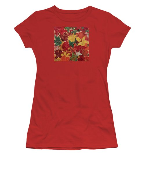 Colors Of October Women's T-Shirt (Junior Cut) by Mike Caitham