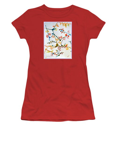 Colourful Blossoms Women's T-Shirt (Junior Cut) by Sonali Gangane