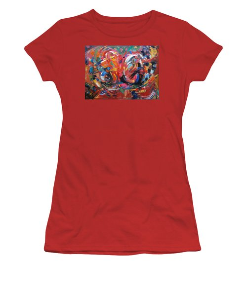 Women's T-Shirt (Junior Cut) featuring the painting Committee Action by Gary Coleman