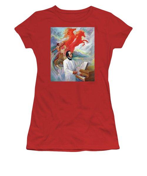 Composer Felix Mendelssohn Women's T-Shirt (Athletic Fit)