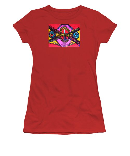 Contact Women's T-Shirt (Junior Cut) by Darrell Black