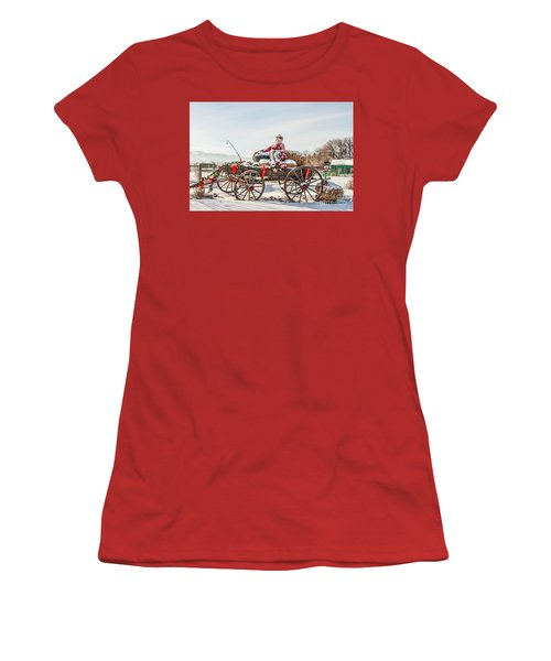 Cowboy Santa Taking A Quick Break Women's T-Shirt (Athletic Fit)