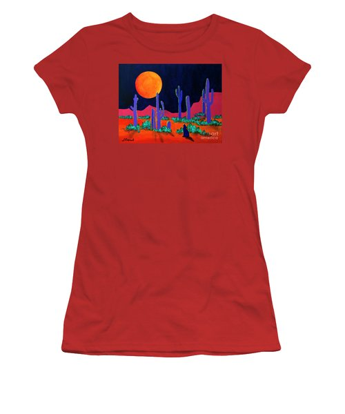 Coyote Moon Women's T-Shirt (Junior Cut) by Jeanette French