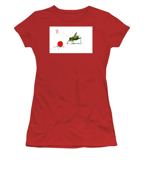 Cricket  Joy With Cherry Women's T-Shirt (Athletic Fit)