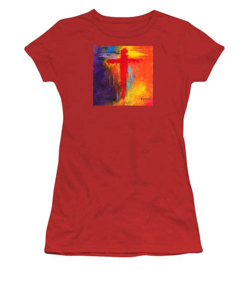 Cross Women's T-Shirt (Junior Cut) by Kume Bryant