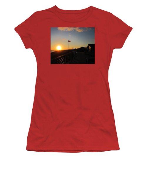 Crystal Cove 4th Of July Women's T-Shirt (Junior Cut) by Dan Twyman