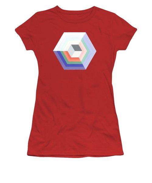 Cube Women's T-Shirt (Junior Cut) by Julio Lopez
