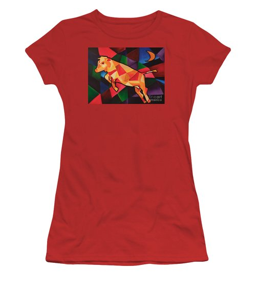 Cubism Cow Women's T-Shirt (Athletic Fit)