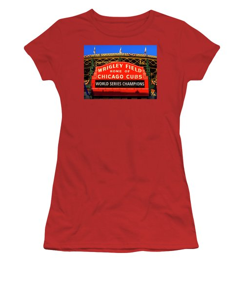 Cubs Win World Series Women's T-Shirt (Athletic Fit)
