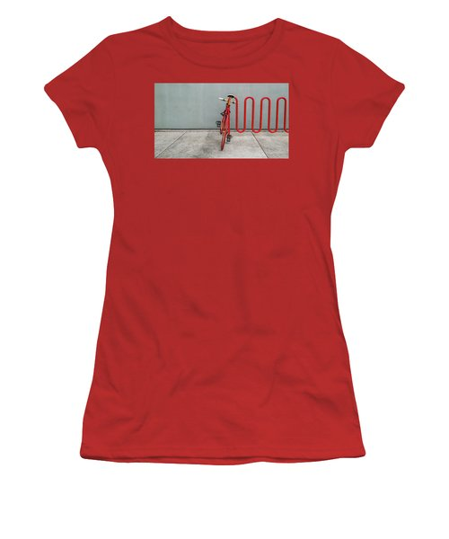 Curved Rack In Red - Urban Parking Stalls Women's T-Shirt (Athletic Fit)