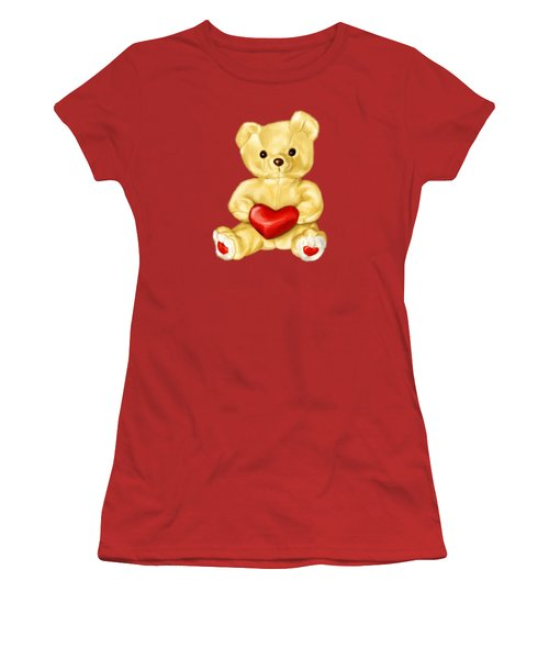 Cute Teddy Bear Hypnotist Women's T-Shirt (Junior Cut) by Boriana Giormova