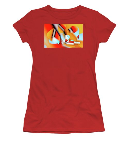 Women's T-Shirt (Junior Cut) featuring the digital art Cutouts by Ron Bissett