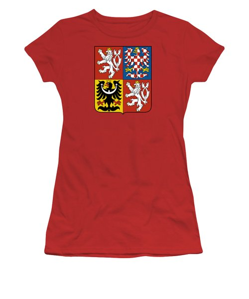 Czech Republic Coat Of Arms Women's T-Shirt (Junior Cut) by Movie Poster Prints