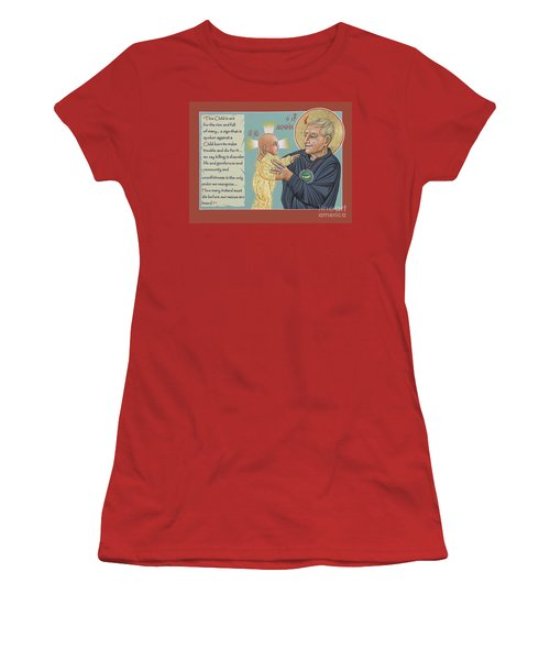 Women's T-Shirt (Athletic Fit) featuring the painting Holy Prophet Daniel Berrigan 291  by William Hart McNichols