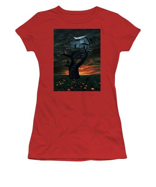 Dark Night Women's T-Shirt (Junior Cut) by Mihaela Pater