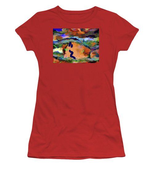Women's T-Shirt (Athletic Fit) featuring the mixed media Desert Excess by Lynda Lehmann
