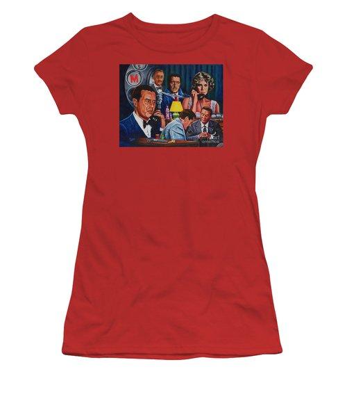 Dial M For Murder Women's T-Shirt (Junior Cut) by Michael Frank