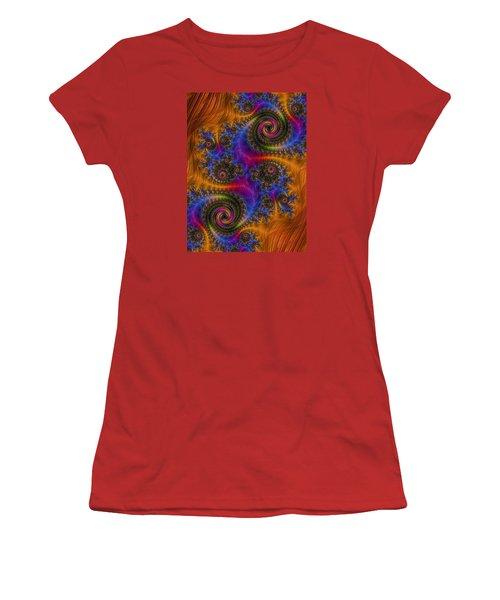 Dizzy Spirals Women's T-Shirt (Athletic Fit)