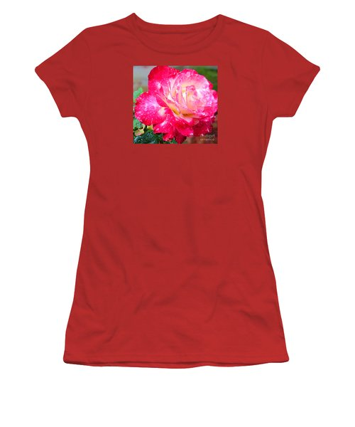 Women's T-Shirt (Junior Cut) featuring the photograph Double Delight by Patricia Griffin Brett