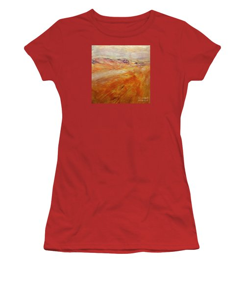 Women's T-Shirt (Junior Cut) featuring the painting Drought by Dragica  Micki Fortuna