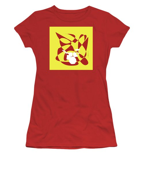 Drums In Yellow Strife Women's T-Shirt (Athletic Fit)