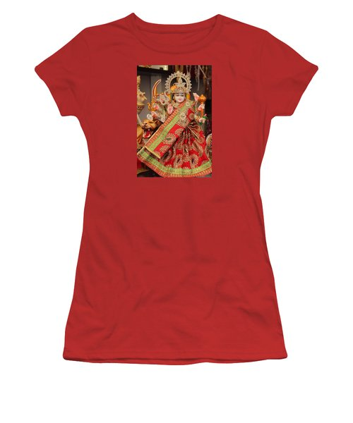 Durga In Madho Bhag, Mumbai Women's T-Shirt (Junior Cut) by Jennifer Mazzucco