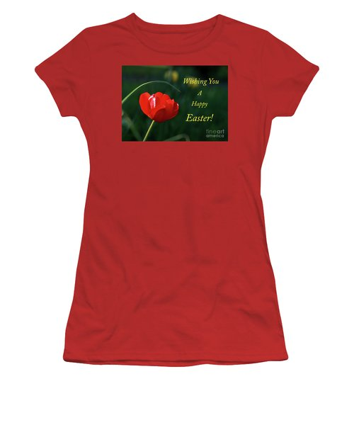 Women's T-Shirt (Junior Cut) featuring the photograph Easter Tulip by Douglas Stucky