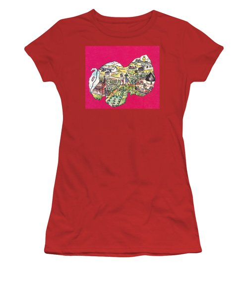 Education Et Citoyennete Au Rwanda Women's T-Shirt (Junior Cut) by Emmanuel Baliyanga