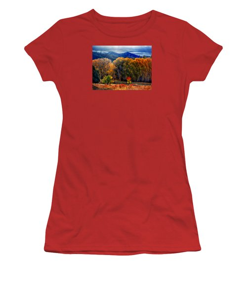 Women's T-Shirt (Junior Cut) featuring the photograph El Valle November Pastures by Anastasia Savage Ealy