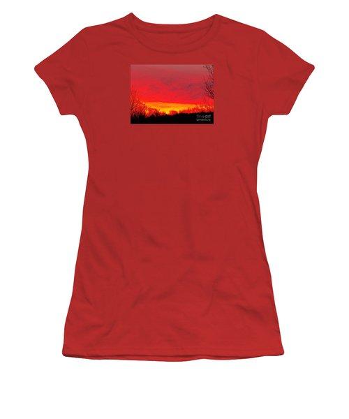 Women's T-Shirt (Junior Cut) featuring the photograph Elijahs Host by Christian Mattison