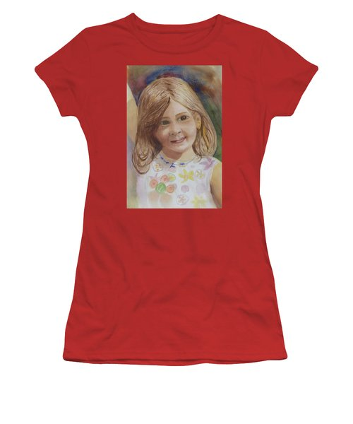 Women's T-Shirt (Junior Cut) featuring the painting Elizabeth by Donna Walsh