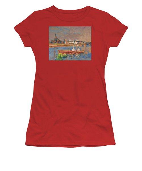 En Bateau De Renoir Sur La Meuse A Maestricht Women's T-Shirt (Junior Cut) by Nop Briex