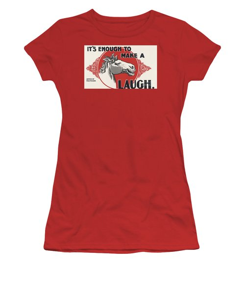 Women's T-Shirt (Junior Cut) featuring the painting Enough Is Enough by Pg Reproductions
