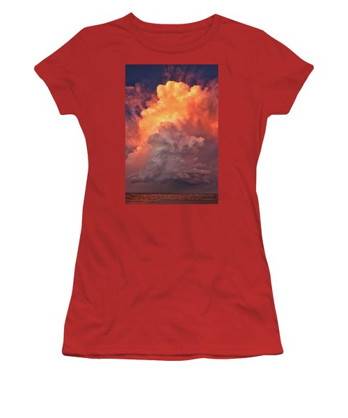 Epic Storm Clouds Women's T-Shirt (Athletic Fit)