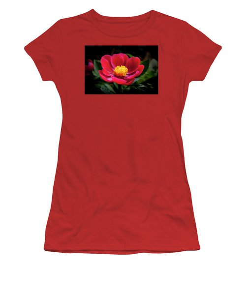 Women's T-Shirt (Athletic Fit) featuring the photograph Evening Peony by Charles Harden