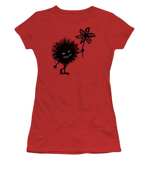 Evil Bug Gives Flower Women's T-Shirt (Athletic Fit)