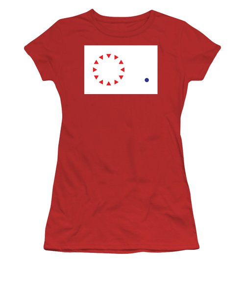 Women's T-Shirt (Athletic Fit) featuring the digital art Excluded by Greg Collins